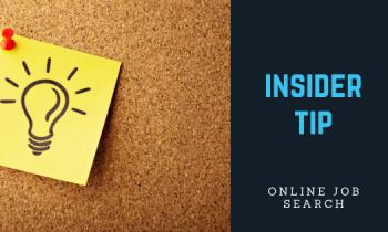 Insider Tip: Online Resume Format